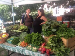 At the Dufferin Grove Farmers' Market